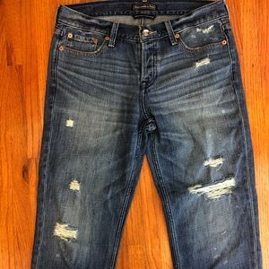 Abercrombie Distressed Destroyed Boyfriend Jeans